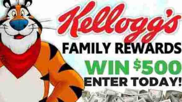 Kelloggsfamilyrewards-Sweepstakes