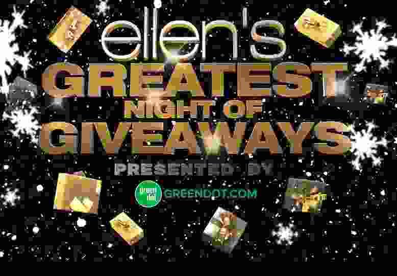 ellens greatest night of giveaways
