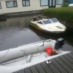 Speedboot boven water