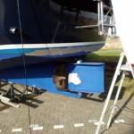 onderwaterschip stralen en coaten van een BARKAS 1100