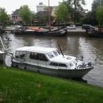 Antifouling aanbrengen op motorschip Aquanout 1000