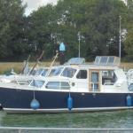 Transport Holl. Stahlkajütboot - Watermann 10 AK van Roermond naar Antwerpen