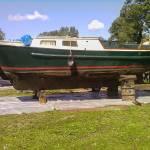 Behandelen onderwaterschip stalen kajuitsloep 8.5 m