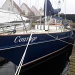 Stralen en coaten gehele romp van zeilschip  12 mtr. Carena  Bonaventura