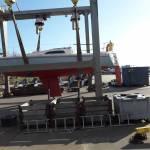 stralen onderwqaterschip polyester zeilboot 8,5 m lang en 2,8 m breed, type impala 28