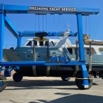 straling onderwaterschip M/Y Caguna / opbouw coating + anti-fouling