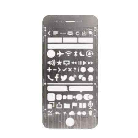 offertehitech-gearbest-Stainless Steel Portable Drawing Graffiti UI Template Ruler Stencil