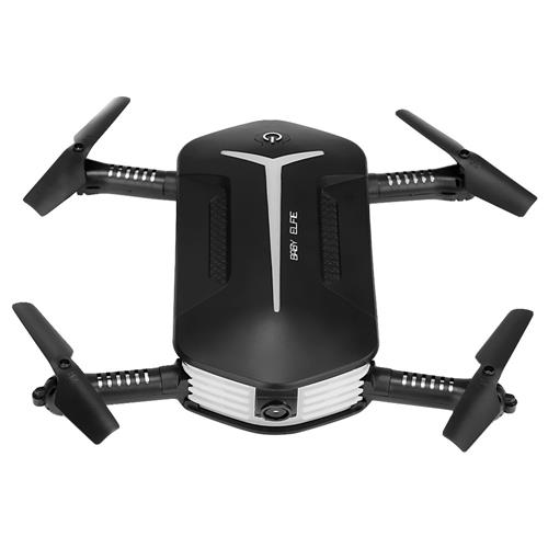 offertehitech-JJRC H37 Mini Baby Elfie WIFI FPV Foldable Drone with HD 720P Camera Beauty Mode Altitude Hold RC Quadcopter RTF - Black