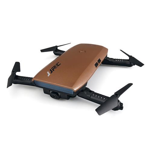offertehitech-JJRC H47 ELFIE Plus 720P WIFI FPV Selfie Drone + Extra 3.7V 500mAh Li-po Battery - Brown