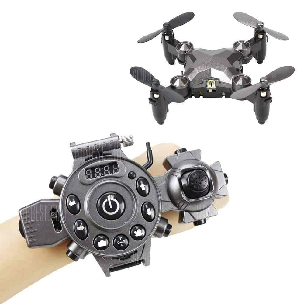 offertehitech-gearbest-Watch Control RC Drone Mini Foldable Quadcopter Altitude Hold