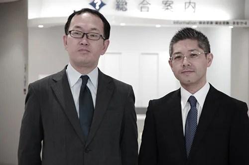 司法書士今健一と司法書士齋藤遊の写真