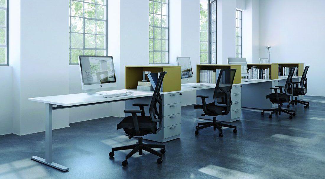 Bürostuhl 1850 Omnia Netz schwarz, Nylon, Kopfstütze