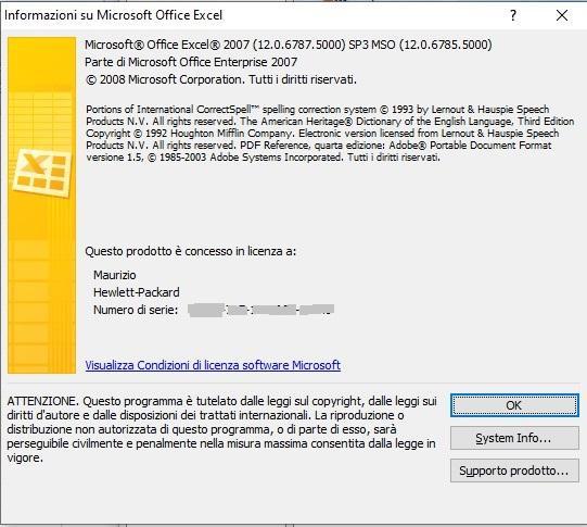 Versione di Excel 2007 - 2 - Office online