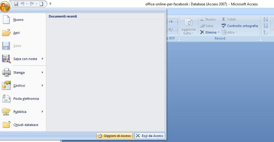 Office online - come trovare la versione Access 2007
