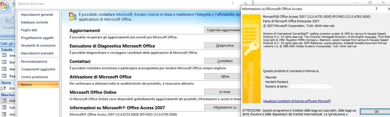 Office online - versione Access 2007