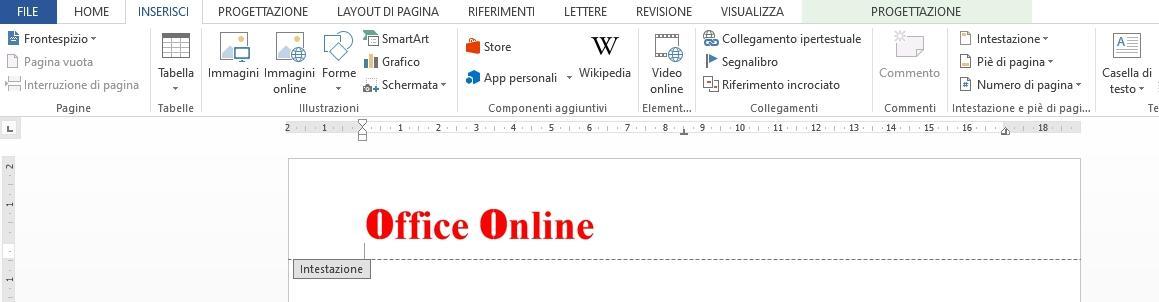 Office online - creare una carta intestata 01