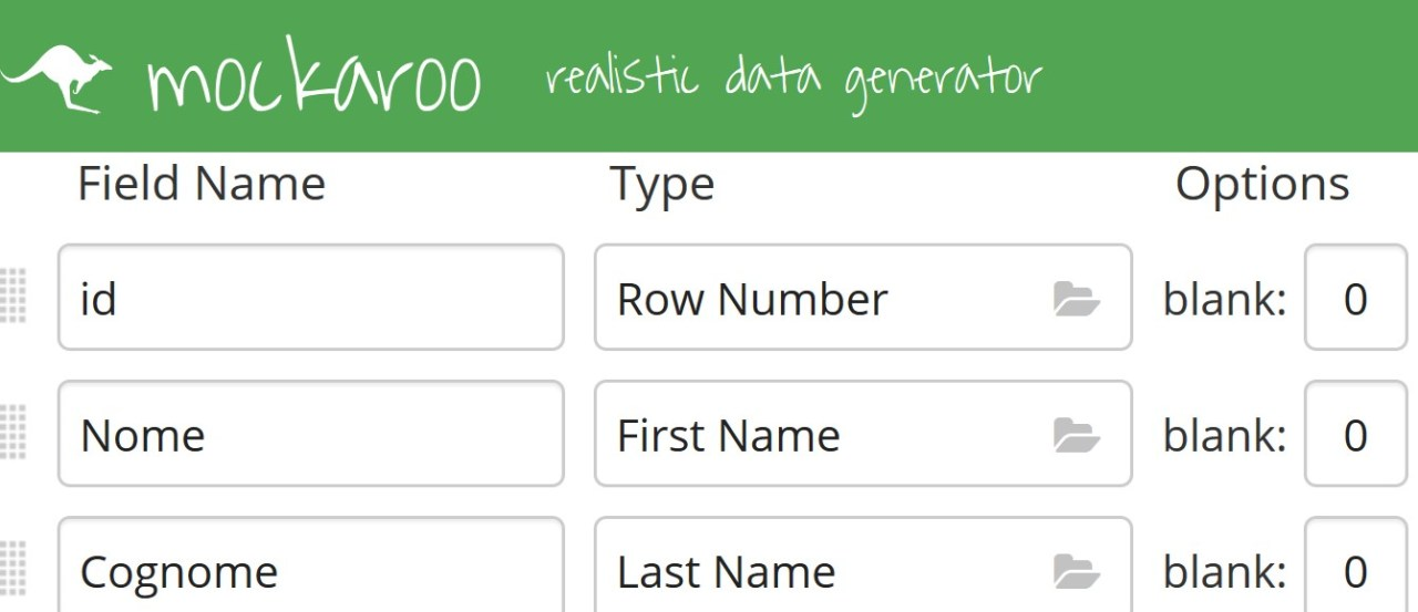 Office online - Mockaroo realistic data generator