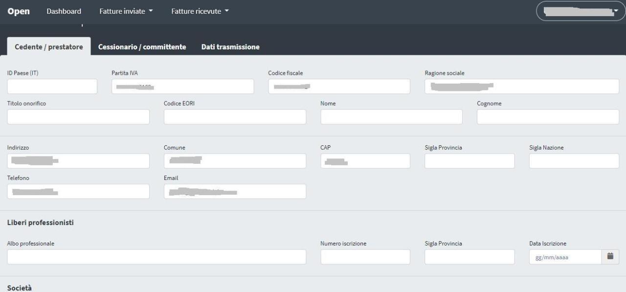 Office online: inserimento manuale di una fattura elettronica