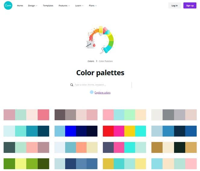 Office online: palette colori Canva