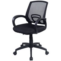 Goplus® Morden Ergonomic Mesh Computer Office Chair Desk Task Midback Task Black Chair