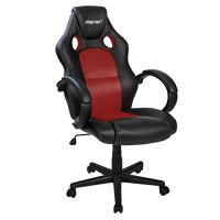 Merax Executive Home Office Chair Racing Style Gaming Chair PU Leather Swivel Computer and Office Desk Chair (red)
