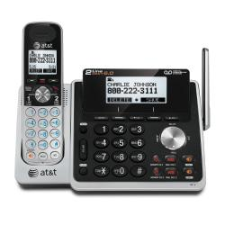 Two-line answering system with Caller ID and Call Waiting features an advanced antenna design to offer the best in long-range coverage. Noise-filtering technology allows you to take calls virtually anywhere without sacrificing sound quality. Handset speakerphone leaves your hands free to do things and lets more people in on the conversation. Backlit LCD displays the name, number, time and date of up to 50 incoming calls. High-contrast black text on a white background provides an easy-to-read screen to view incoming Caller ID or review call history. Expandable design connects up to 12 additional handsets (sold separately) using just one jack. 2 lines provide more flexibility in your home or office  Digital answering system includes a mailbox for each phone line. Get up to 14 minutes of recording time for each mailbox .  DECT 6.0 digital technology for secure, crystal clear calls.  Handset and base speakerphone s let you multitask while you talk.  Features Dual Caller ID/Call Waiting with 50-number storage.  Expandable up to 12 cordless handsets to suit your growing home or business.  Conference between an outside line and up to 4 cordless handsets .  Headset-compatible (2.5mm jack) for more hands-free flexibility.  Energy efficient - designed to use less energy than alternative products, potentially helping you save money and reduce your carbon footprint.  ENERGY STAR certified - meets federal guidelines for energy efficiency.