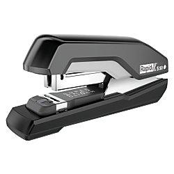 Staple 50 sheets at a time and flatten your stack of paper at the same time SuperFlatClinch(TM) technology for smaller paper stacks.  Ergonomic design is comfortable for even the smallest hands.  Features various tacking capabilities. Opens for tacking on the walls. Half-strip stapler, all-metal interior and a full rubber non-skid base.