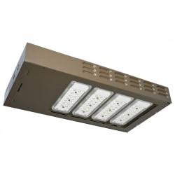 The US LED QubeLot3 LED Area Light Fixture is ideal for exterior pole lighting applications in new construction or retrofit opportunities that demand a classic appearance. It is designed as a pole luminaire that will equal or surpass most existing fluorescent, high-pressure sodium, or metal halide pole lights, while reducing maintenance costs.  Produces a brightness of 25,170 lumens.  5000 Kelvin (Day Light) appearance.  Get up to 200,000 hour rated life.  Type V beam angle. Great for store displays and architectural illumination.  UL listed for performance and safety.  For 347-480V usage.  Backed by the manufacturer's 10-year warranty.  Energy efficient - designed to use less energy than alternative products, potentially helping you save money and reduce your carbon footprint.  UL Claim Validation - UL environmental claim validations lend third-party credibility to single-attribute environmental claims.