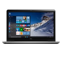 Enjoy the speed and power of the Dell Inspiron laptop with a 17.3in. touch screen. Keep all of your files and programs with you and run them with the power of a desktop PC while on the go thanks to the 8GB of memory, 1TB HDD and Windows 10. Runs on Microsoft(R) Windows 10 Home.  Full HD touch screen delivers crisp, brilliant images on the 17.3in. display. Each tap, swipe and scroll is responsive and accurate. Powered by 6th Gen Intel(R) Core(TM) i5 processor.  8GB of memory is great for running the programs you need.  1TB hard drive accommodates your apps, photos, videos and other files.  Watch DVDs, burn CDs or load software and applications onto your desktop with an internal optical disc drive.  Features Wireless-AC for high-performance, cable-free networking. Wired networking is also supported. Ports include: 1 USB 3.0, 2 USB 2.0 and 1 HDMI.  Media card slot supports SD, SDHC and SDXC cards.  Delight in sound delivered by Waves MaxxAudio(R).  Weighs 6.24 lb.  Crunch numbers or navigate spreadsheets and documents quickly with a 10-digit numeric keypad.  Battery stays powered for up to 7 hours before recharging is needed. Battery life will vary depending on the product configuration, product model, applications loaded on the product, power management setting of the product, and the product features used by the customer. As with all batteries, the maximum capacity of this battery will decrease with time and usage. Intel, the Intel Logo, Intel Inside, the Intel Inside logo, Intel Core, Intel Atom, Celeron, Pentium and Pentium Inside are trademarks of Intel Corporation in the U.S. and/or other countries.