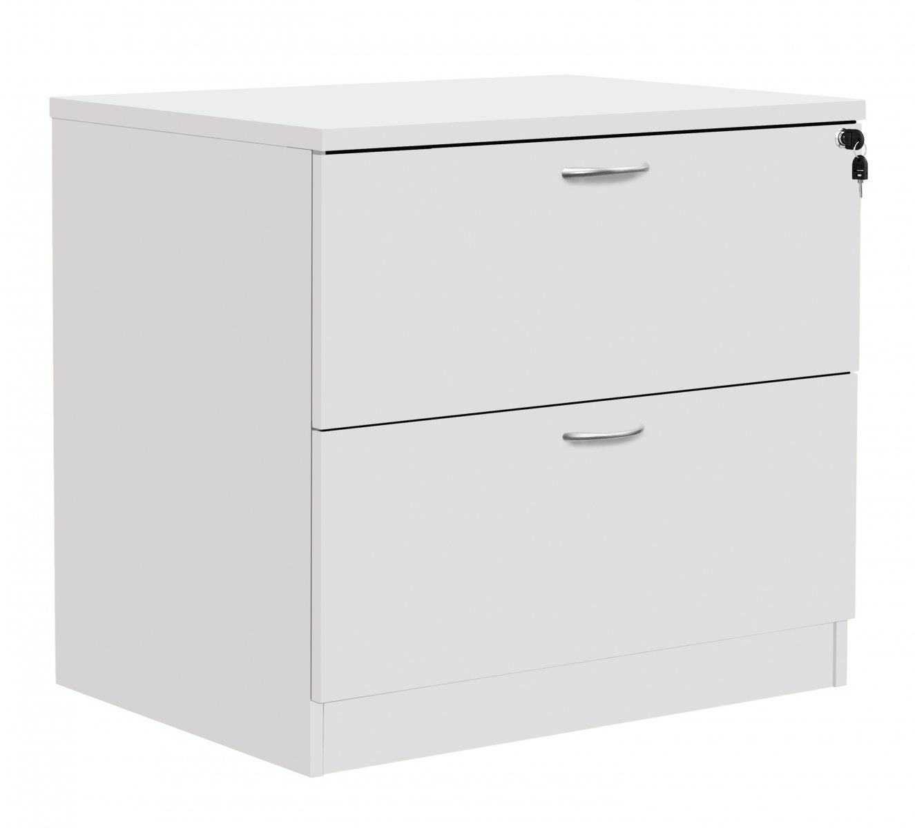 Fraction Plus Desk High Lateral Filing Cabinet White