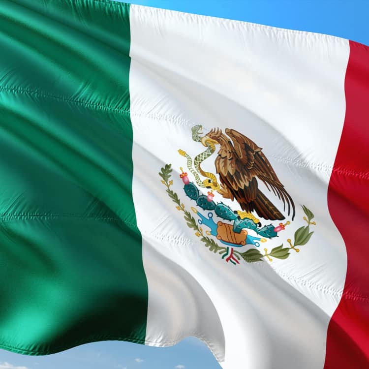 image of a Mexican flag