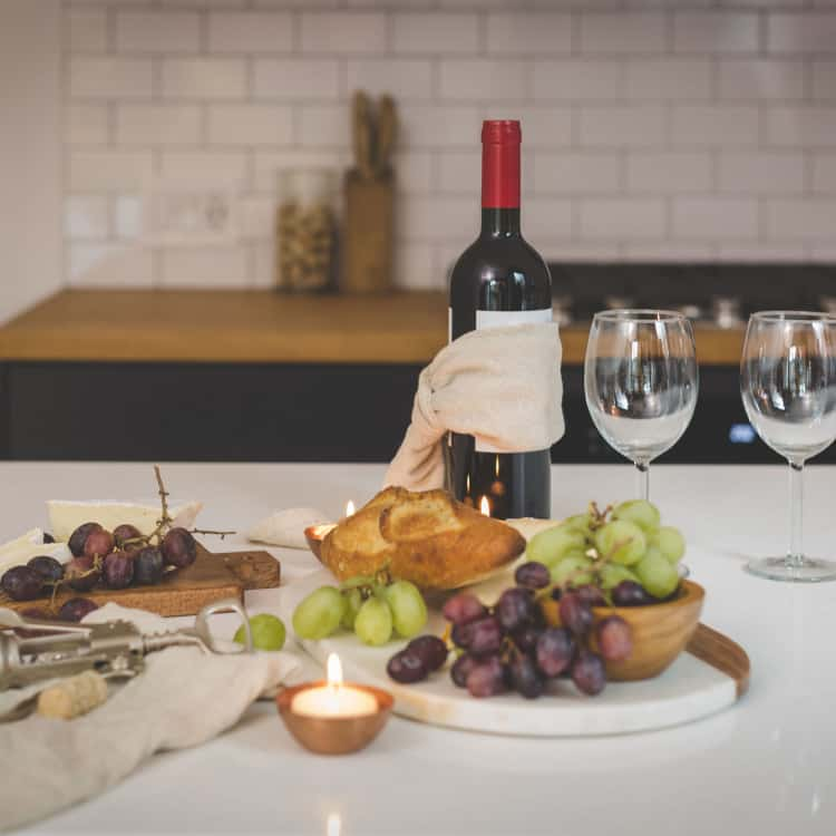 image of food and wine