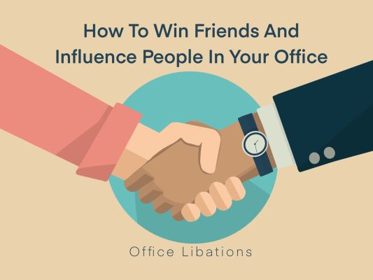 cover illustration for the article How to win friends and influence people in your office