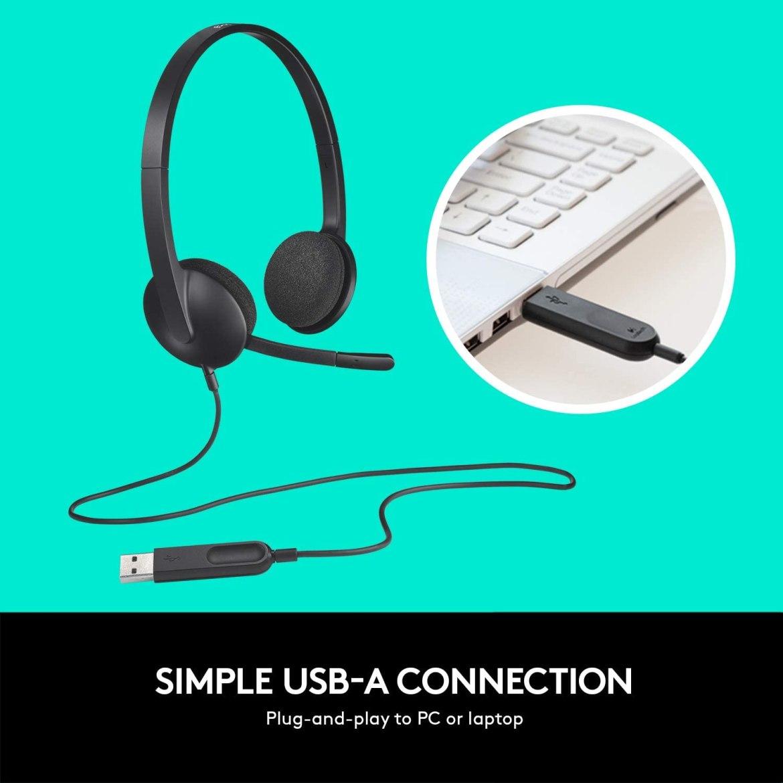 Logitech USB Headset H340 | Headset Shop | OfficeSupplies