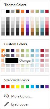 custom color palette