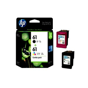 HP 61 Black and Tri-Colour Ink Cartridges Value Pack