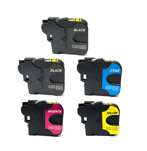 Compatible Brother LC-38 Five Colour Value Pack