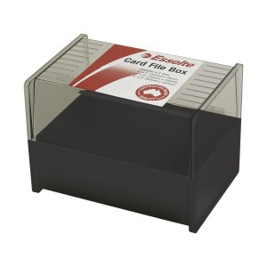 ESSELTE SWS CARD FILE BOX 102X152 (6X4) BLACK