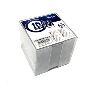 Memo Cubes Transparent Plastic Box With White Paper [ 800 sheets 90 х 90 mm ]