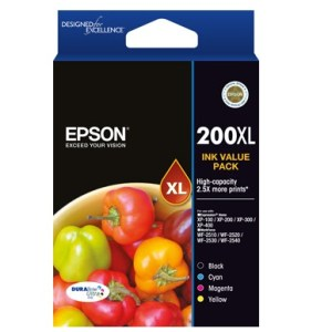 Epson 200XL Black and Colour Cartridges Inks Value Pack
