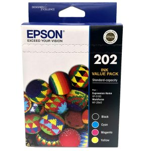 Epson 202 Black and Colour Cartridges Inks Value Pack - C13T02N692