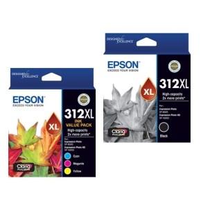 Epson 312XL Black and Colour Cartridges Inks Value Pack