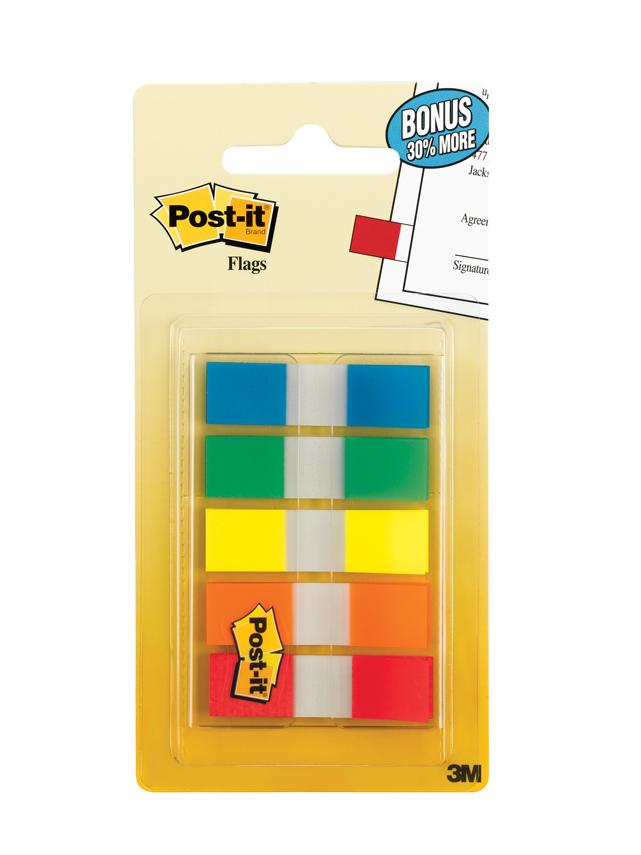 3M Post It Flag 683 5CF 5 Colors 100 Flags 11 X 43mm