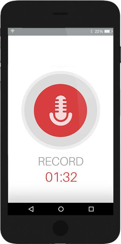 Record, Audioaufnahme