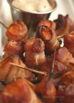 Bacon Wrapped Sweet Potato
