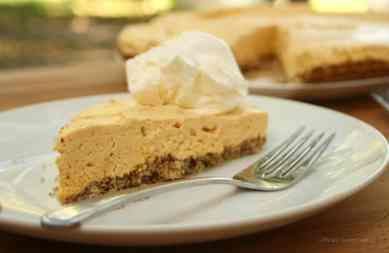 Pumpkin Cheesecake with Almond Crumb Crust