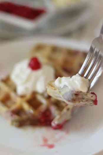 Gluten Free Raspberry Waffles