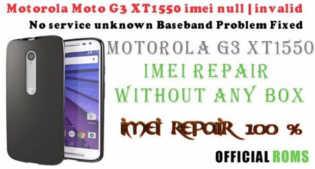 Motorola Moto G 3rd Generation (XT1550) IMEI Repair