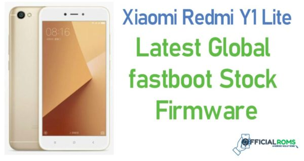 Xiaomi Redmi Y1 Lite Stock Firmware (flash file)