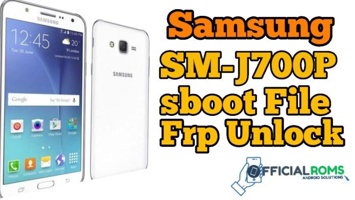 Samsung Galaxy J7 SM-J700P ENG Boot File Frp Unlock Adb Mode